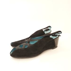 Thierry rabotin 39.5 39 1/2 black suede shoes